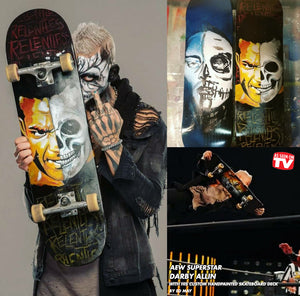 AEW Superstar Darby Allin X Ed May Art Custom Skateboards