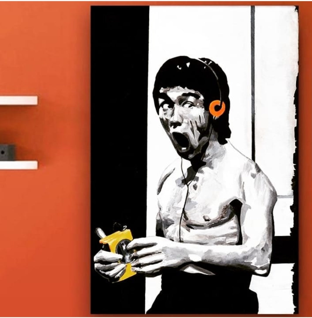 Bruce Lee Loves Jams Canvas Print