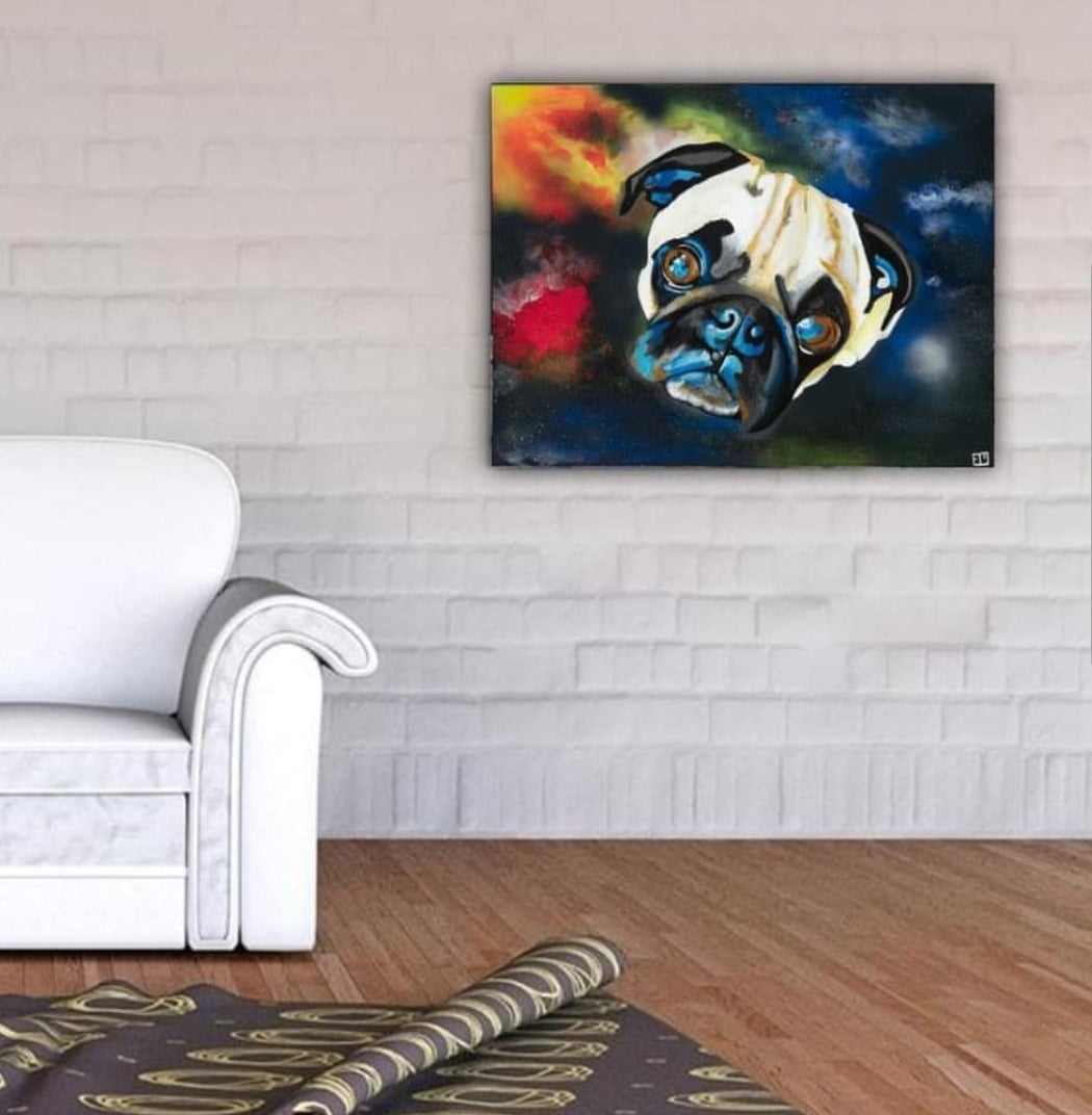 Gaston The Pug Canvas Print