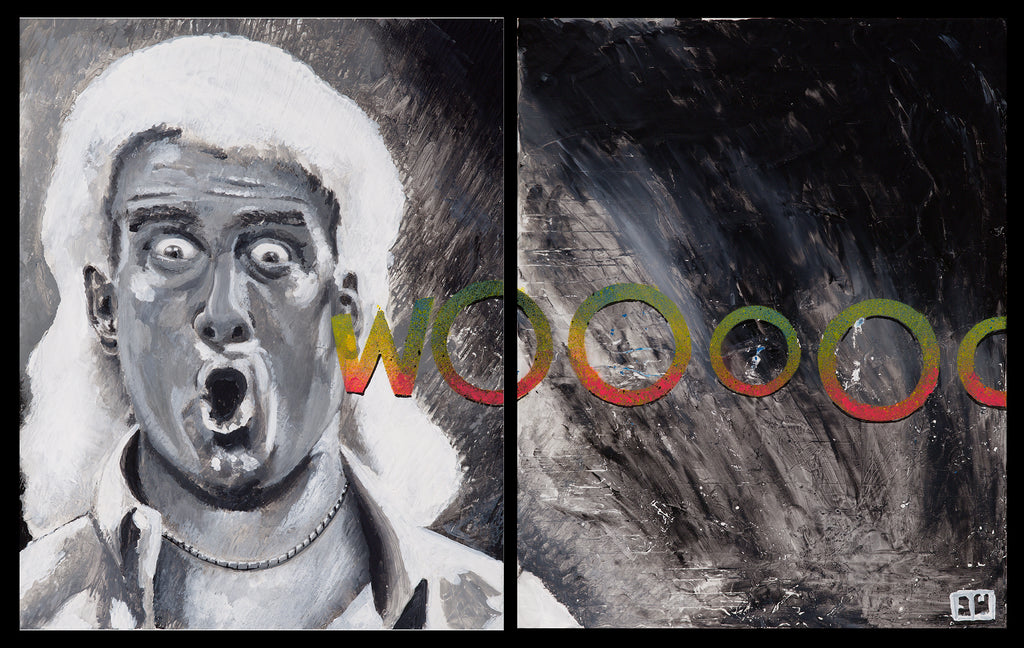 WOOOOO - Ric Flair 17x20 Original