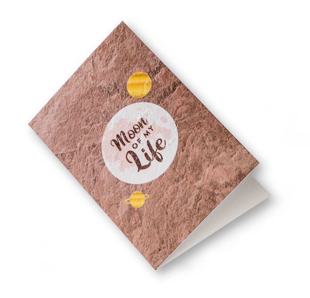 love greeting card made of real stone