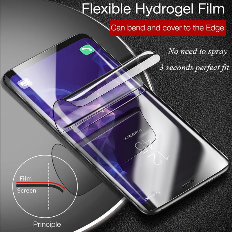 2 Pack 3D Curved Full Coverage Hydrogel Film Screen Protector For Samsung