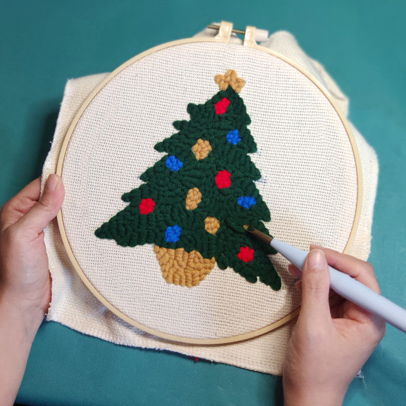 Christmas Tree Punch Needle Kit