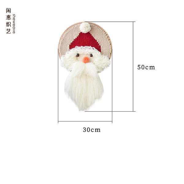 Father Christmas Tapestry Wall Hanging Weaving Loom Kit