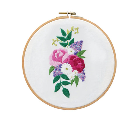 European Style Bouquet A Embroidery Kit