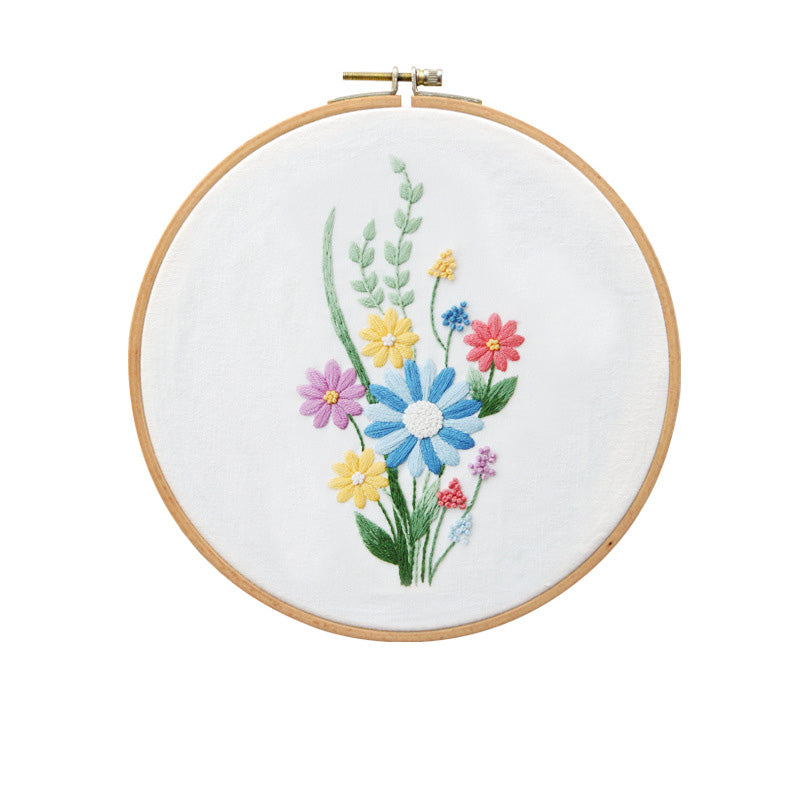 Colorful Daisy Embroidery Kit