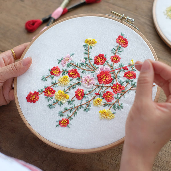 Plum Blossom  Embroidery Kit