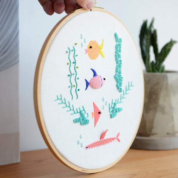 Sea Fishes Embroidery Kit