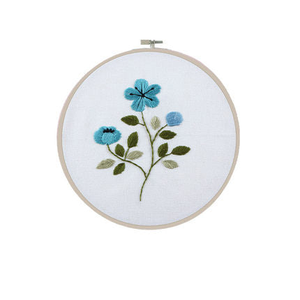 Blue Rose Embroidery Kit