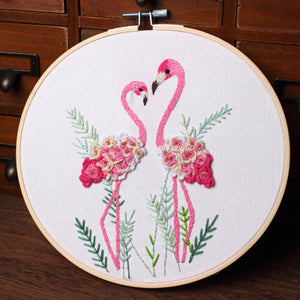 Flamingo Lover Embroidery Kit