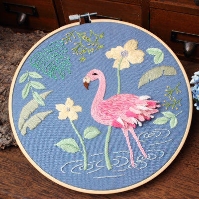 A Flamingo Embroidery Kit