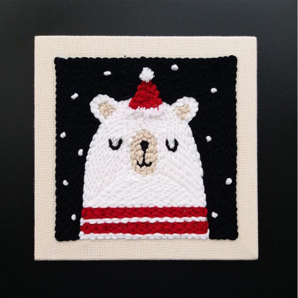 Bear in Winter Punch Needle Kit
