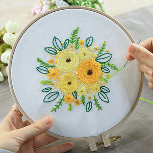 Yellow Bouquet Embroidery Kit