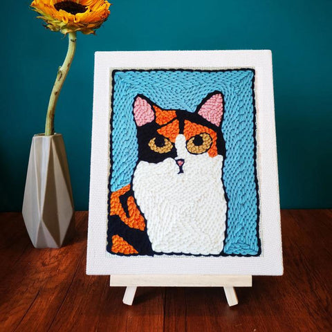 Orange Cat Punch Needle Kit