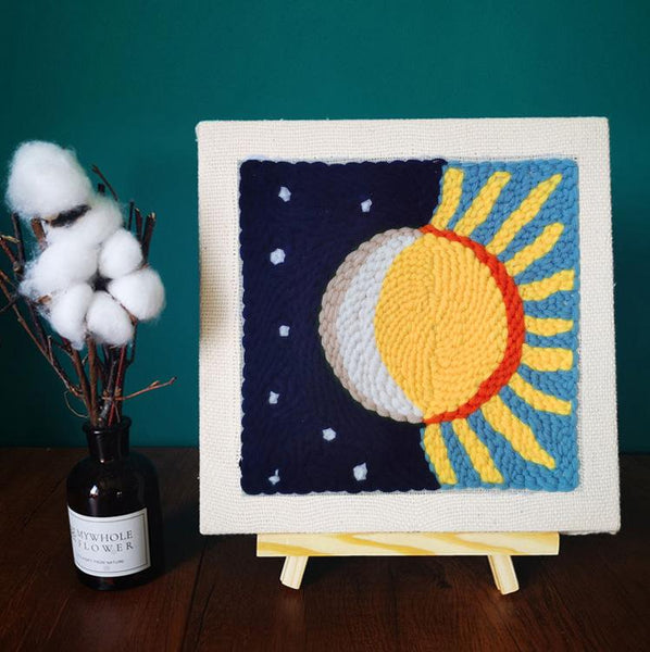 Sun and Moon Punch Needle Kit