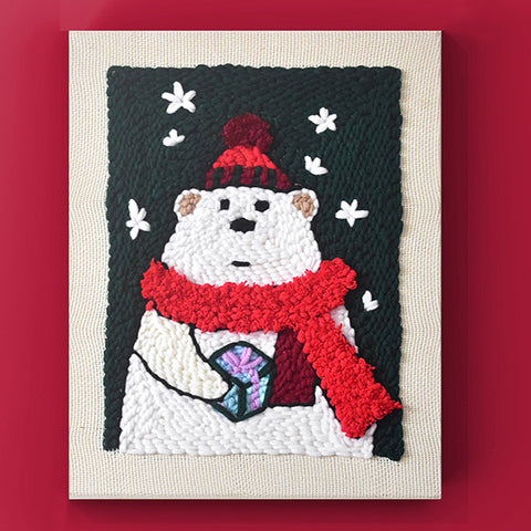 Christmas Bear Punch Needle Kit