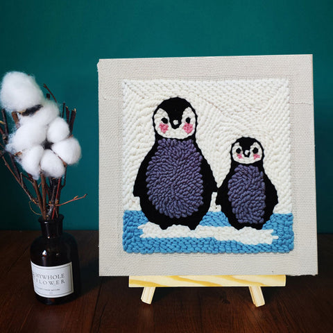 Two Penguins Punch Needle Kit