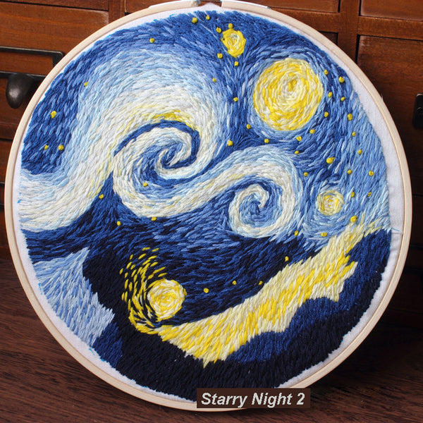 Starry Night 2 Embroidery Kit