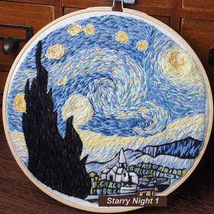 Starry Night 1 Embroidery Kit