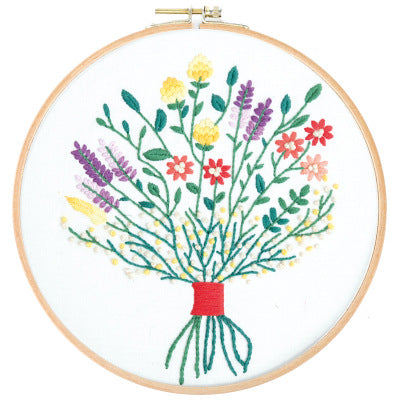 Wild Flower Bouquet Embroidery Kit