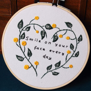 Smile on Your Face Embroidery Kit