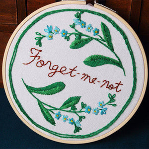 Forget Me Not Embroidery Kit