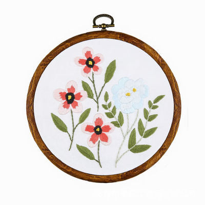 Garden Flower Embroidery Kit