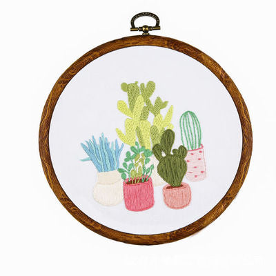 Potted Plant Embroidery Kit