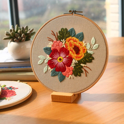 Vintage Flower A Embroidery Kit
