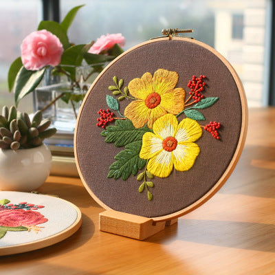 Vintage Flower C Embroidery Kit