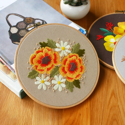 Vintage Flower D Embroidery Kit