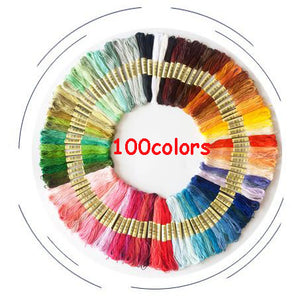 100PCS Embroidery Thread