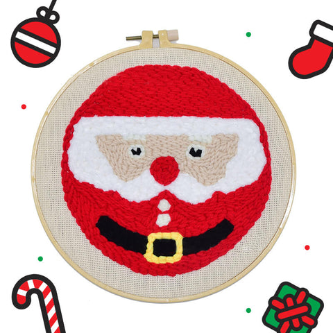 Santa Claus Punch Needle Kit