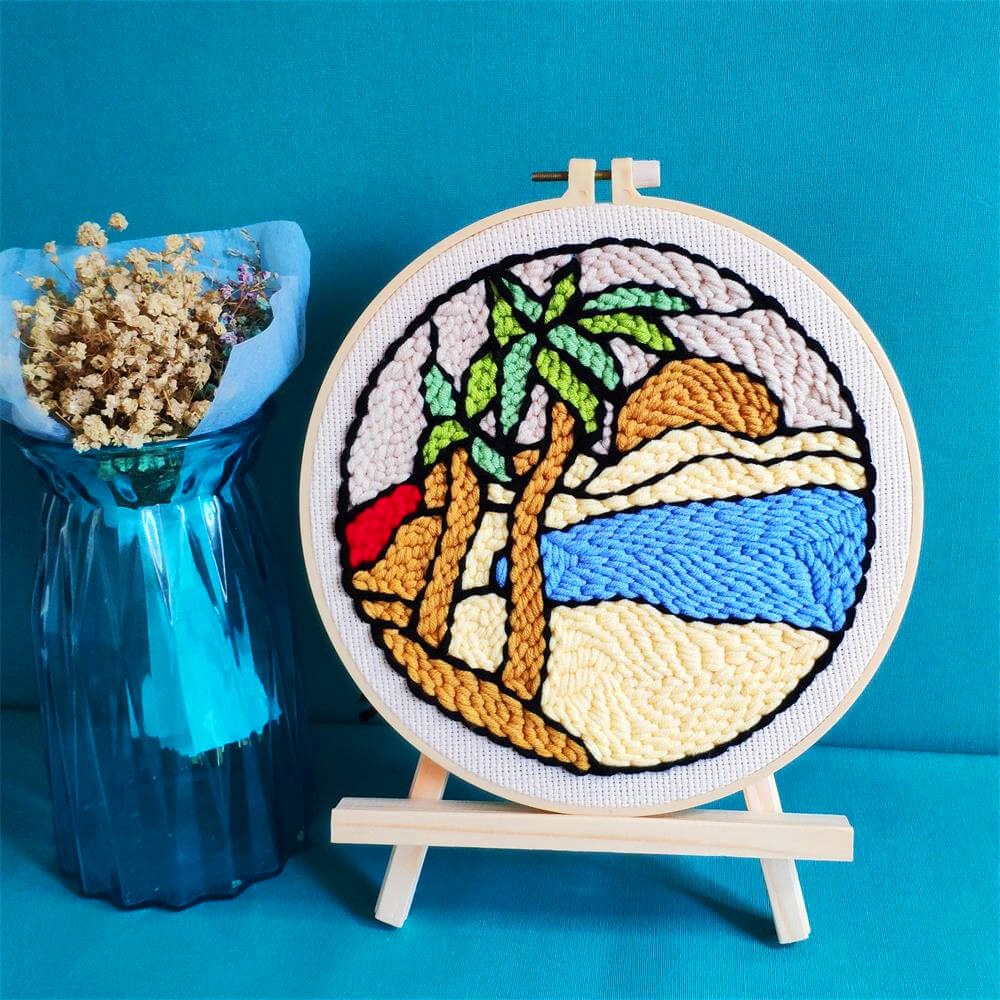 Caribbean Beach Punch Needle Kit