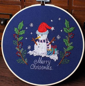 Merry Christmas Embroidery Kit