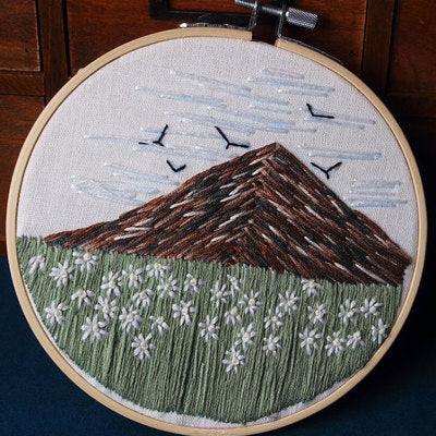 Mountain Flower Embroidery Kit