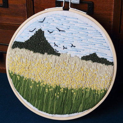 Tulip Field Embroidery Kit