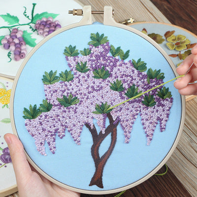 Wisteria Blossom Embroidery Kit