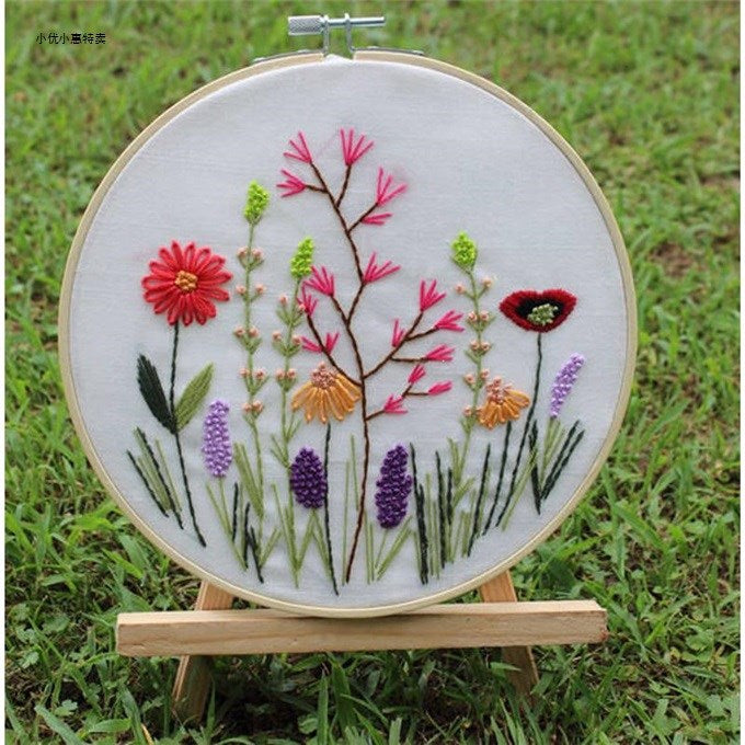 Wild Flowers Embroidery Kit