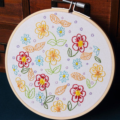 Spring Flower Embroidery Kit