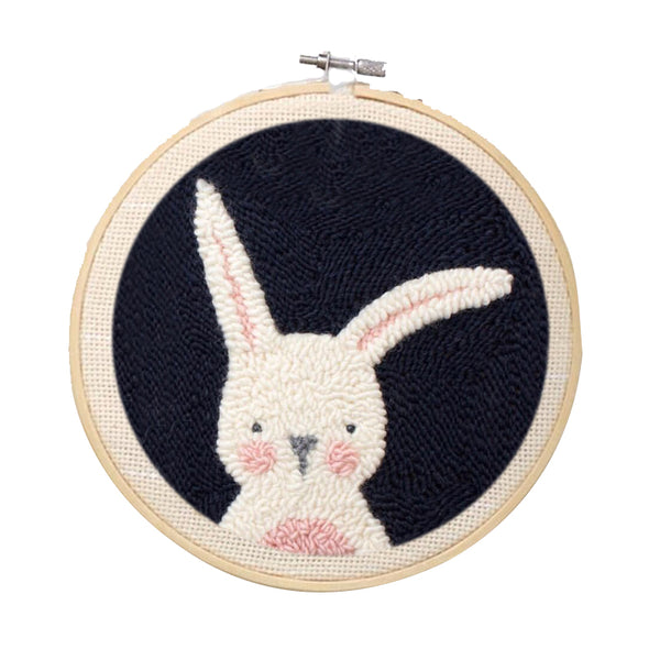 Black Bunny Punch Needle Kit