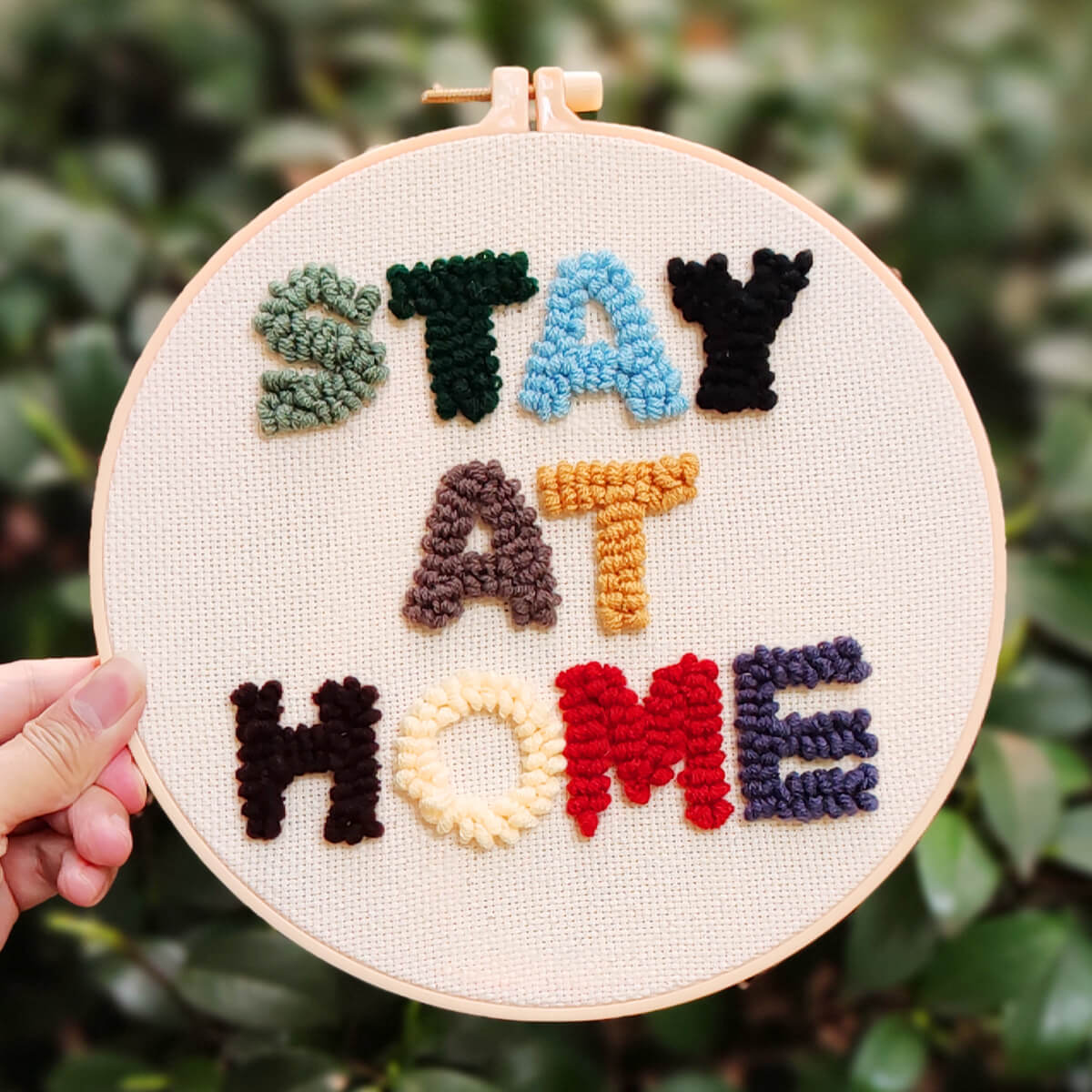 Stay At Home Punch Needle Kit Needle Art Club