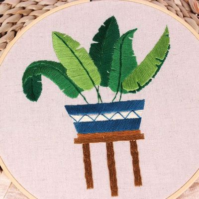 Banana Leaf Embroidery Kit