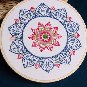 Blue Mandala Embroidery Kit