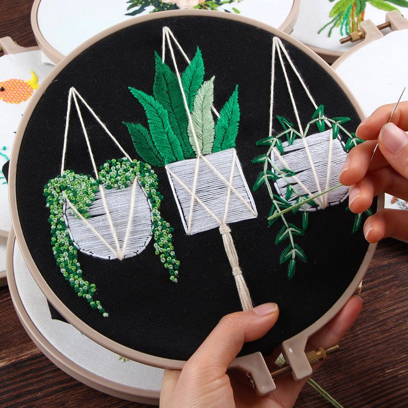 Plant Embroidery Kit