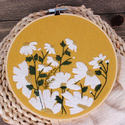 Yellow Oxeye Daisy Embroidery Kit