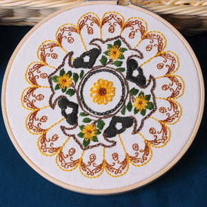 Yellow Mandala Embroidery Kit