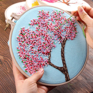 Peach Blossom Embroidery Kit