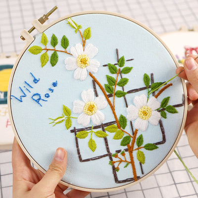 Wild Rose Embroidery Kit