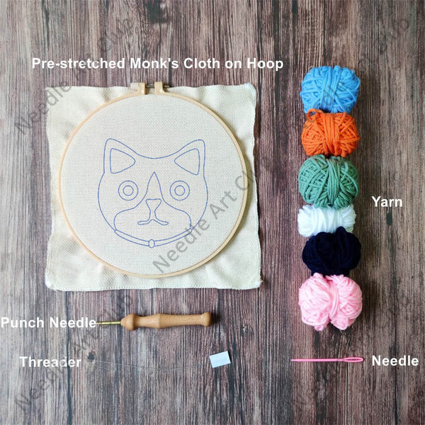 Cute Kitten Punch Needle Kit